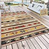 Paco Home In- & Outdoor Teppich Modern Jelle Print Terrassen Teppich Wetterfest Gelb, Grösse:160x220 cm