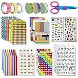 Aiskki Scrapbooking Sticker Bastel Zubehörset Aufkleber Fotoalbum Stickers Liebe DIY Gestalten Tagebuch Karten Dekoration für Fotobuch(50 STK)