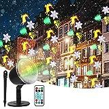 CGBOOM Weihnachten LED Projektorlampe, Ltteny LED Projektor Lichter mit 10 Motiven, Wasserdichte Außenbeleuchtung Weihnachten Licht Projektor mit Fernbedienung zum Party Urlaub