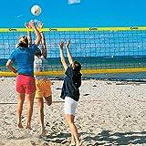 DONET Beach-Volleyball-Netz, Training & Freizeit 8,5 x 1,0 m, PVC-Einfassung gelb 75 mm
