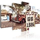 murando - Bilder Auto 200x100 cm Vlies Leinwandbild 5 TLG Kunstdruck modern Wandbilder XXL Wanddekoration Design Wand Bild - Retro Vintage 030206-4