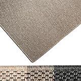 casa pura Moderner Teppich in Premium Sisal Optik | ausgezeichnet mit GUT-Siegel | pflegeleichtes Flachgewebe | viele Größen (Taupe, 140x200 cm)