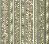 A.S. Création Vliestapete Concerto 3 Tapete mit Ornamenten barock gestreift 10,05 m x 0,53 m gelb grün Made in Germany 335474 33547-4