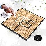 Dioche Go Brettspiel, 2-Spieler Go Game Set Magnetische Klappbrett Weiqi Lernspiele für Kinder Erwachsene