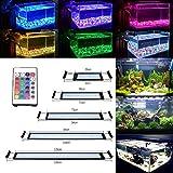 DOCEAN 11W Aquarium Beleuchtung LED Aquariumlicht Aquariumleuchten Aquariumlampen 72 * 5050SMD RGB 24 Tasten IR Fernbedienung und 10cm Docking Halterungen Einstellbare Länge für Fisch Tank 50cm-70cm