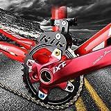 Kettenführung für Mountainbikes, Rennrad, Mountainbike, Kettenführung, Spanner mit hohlem Design für Einzelscheiben-Kettenrad, vorderes Zifferblatt, glattes Fahren, schwarz