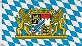 normani Fahne mit Messingösen 90 x 150, 150 x 250 oder 300 x 500 cm wählbar Farbe Bayern Größe 150 x 250