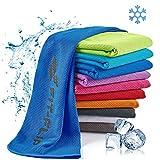 Fit-Flip Kühlendes Handtuch 100x30cm, Mikrofaser Sporthandtuch kühlend, Kühltuch, Cooling Towel, Mikrofaser Handtuch – Farbe: dunkel blau, Größe: 100x30cm
