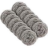 MR.SIGA Topfreiniger Putzschwamm Küche Scheuerspirale Reinigungsbürste Topfkratzer aus Edelstahl, 12 er Pack, 30g per Stück