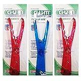 GUM Flosser Zahnseidenhalter, 3er Vorteilspack (3 Stück)