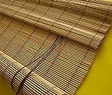 deko-raumshop Bambusrollo Seitenzug Kirschbaum Holzrollo Sichtschutz Fenster Rollos Breite 60-140 cm Länge 160 cm Raffrollo (60 x 160 cm)
