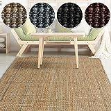 casa pura Jute Teppich Webteppich aus Naturfaser | Moderner Juteteppich | Natürliche Sisal Optik für Wohnzimmer, Esszimmer und Flur | Große Auswahl | Natur - 60x90 cm