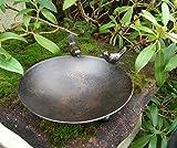 Deko-Impression Vogeltränke Vogelbad Vogel-Futterstelle Eisen massiv bronzefarben 22