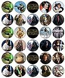Star Wars Cupcake-Topper, essbares Oblatenpapier, Feen-Motiv, 30 Stück