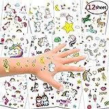 Konsait Einhorn Tattoos Set, Einhorn & Regenbogen temporäre Tattoos Kinder Aufkleber Sticker für Mädchen Kindergeburtstag Mitgebsel Einhorn Party Über 300 Tattoos