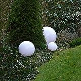 Dapo Außen-Garten-Kugel-Leuchte-Lampe Marlon 3er Set (20+30+40cm) Boden-Terrassen-Balkon-Rasen-Pool-Blumenbeet-Treppen-Wege-Eingangs-Leuchte-Lampe E27