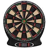 Best Sporting elektronische Dartscheibe London Dartboard mit 6 Dartpfeilen und Ersatzspitzen, batteriebetriebener Dartautomat mit LCD-Display