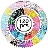 Fascigirl 120 Stk Haarspangen Mädchen Haarklammern Metall Haarclips Bunt Barrettes Set (30 verschiedene Farben mit je 4 stk) Hairclips