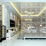Y-Step Hängender Raumteiler, Paravent, Hängepaneel für Zuhause, Hotel, Büro, Bar, Dekoration, 12 Stück Pattern a