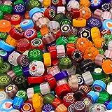 Armena Millefiori Glas Mosaiksteine bunt gemischt 7-10mm 50g (Circa 55 Stück)