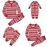 Hailouhai Familie Weihnachten passenden Neugeborenen Baby Kinder Mama Papa Langarm Pyjamas Red Nachtwäsche Nachtwäsche Homewear Set (rot, MutterXL)