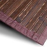casa pura Bambusteppich Oak | für Bad und Wohnzimmer | natürlich wohnen Bambus | Bambusmatte in vielen Größen (120x180 cm)