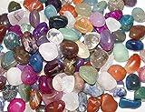 500 Gramm Bunte Trommelstein Mischung ca. 50-58 Steine ca. 1-3 cm mit Bergkristall, Rosenquarz, Goldfluss, Moosachat, Türkinit, bunte Achate, Jaspis u.a.(2359)