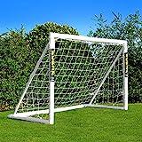 Net World Sports Forza Fußballtore – das Beste Tor bei jedem Wetter – 5 Größen (1,8m x 1,2m mit einem Klicksystem)