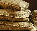 Sandsäcke Jute 20kg (30 x 60 cm) 10er Pack Hochwasser Sandsack Dammschutz