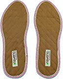 Nawemo Zimtsohlen, geruchsbindende Zimteinlegesohlen gegen Schweißfüße, Fußgeruch, Fußpilz und Nagelpilz, dünne Einlegesohlen braun (1er Pack/1 Paar), Größe 49 EU