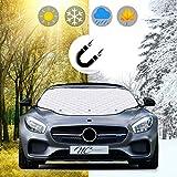 NC design - Premium Auto Scheibenabdeckung- Winterabdeckung- Eisschutzfolie- Frontscheibenabdeckung mit Magnet- Perfekter Schutz vor Sonne, Staub, Frost und Schnee- Schütze was dir lieb ist.