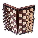 Square - Schach Schachspiel - MAGNETISCHE - 26,5 x 26,5 cm - Schachfiguren & Schachbrett aus Holz