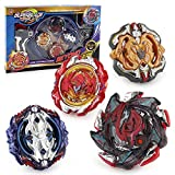 3T6B Bay Battling Tops mit Kampfkreisel Stadium Burst Top Metal Fusion Battle Attack Pack für Trägerraketen und Arena für Kinder Kinder Spielzeuggeschenk (4 PCS)
