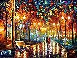 Tirzah Malen nach Zahlen mit 3X Bildschirmlupe 40 x 50cm DIY Leinwand Gemälde für Erwachsene und Kinder, Enthält Acrylfarben und 3 Pinsel - Immer mit dir Sein (Ohne Rahmen)