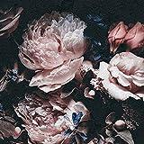 Forwall Fototapete Vlies Tapete Wanddeko Blumen Rose - Blumenstrauß Vintage Kunst Retro Moderne Wanddekoration 13525V8 368cm x 254cm Schlafzimmer Wohnzimmer