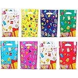 Herefun Kindergeburtstag Tüten, 80 Stück Geschenktüten Bunt Candy Partytüten Set 8 Arten Präsenttüten für Papiertüten für Den Kinder-Geburtstag