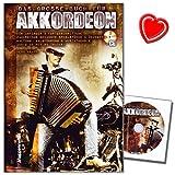 Das große Buch für Akkordeon - Schule für Piano-Akkordeon von Herbert Kraus mit CD und bunter herzförmiger Notenklammer - leichten Weg zum perfekten Akkordeonspiel