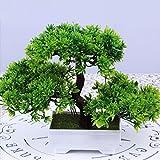NaroFace Künstliche Bonsai Baum Pflanze für Büro Zuhause Dekoration, 18cm (Grün)
