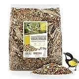 wildtier herz | Vogeltraum 5kg Premium Vogelfutter ohne Weizen Ganzjahresfutter für Wildvögel I Wildvogelfutter schalenfrei I Vogel Streufutter, Fettfutter für Vögel