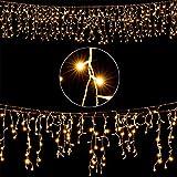 Deuba LED Regenkette 200 LEDs warmweiß Weihnachten Deko Beleuchtung | In- & Outdoor | Schutzklasse IP44 | Modellauswahl