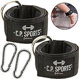 C.P. Sports Hand- und Fußschlaufe Komfort 1 Paar / 2 Stück inkl. Karabinerhaken für Kabel und Seilzugstationen