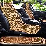 Qivor Sommer Holzperlen Autositz Einzelstück Atmungsaktiv Cool Pad Platz Pad Kissen Sommer Perlen Einzelsitzbezug Universal Sitzkissen (Color : Brown.)