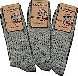 3 Paar Schafwollsocken - Socken aus 100% Schafwolle - naturwarm Größe 39/42