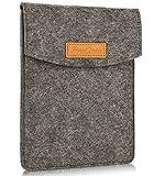 ProCase 6-Zoll-Hülsen-Koffer-Tasche, Tragbarer Filz Tragebeutel Schutzhülle für 5-6'Zoll Tablette Smartphone E-Reader E-Book -Schwarz
