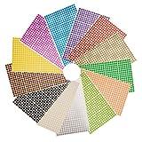 NBEADS 6mm Kleine Runde Dot Aufkleber Selbstklebende Farbe Klebrige Codierung Etiketten Kennzeichnung Etiketten, 28 Blatt (13328 Punkte), Gemischte Farbe, 22,2x12,5 cm