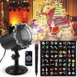 LED Projektionslampe FOCHEA Projektor Licht Außen Weihnachten Projektionslampe Effektlicht Projektor Lichter 16 Muster für Weihnachten Halloween Aussen Innen