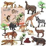 BeebeeRun Tierfiguren Set kinderspiele ab 3 Jahren,Spielzeug ab 2 Jahre Jungen Mädchen,Spielzeug Lernen Partyzubehör Geburtstag Geschenke