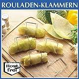 Rouladen-Klammern 10 Stück, Rouladenhalter Rouladennadeln Rouladenringe, Küchenhelfer, rostfreier Edelstahl, 7 x 8 x 6 cm
