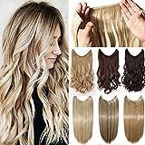 50cm Haarverlängerung Haarteil Extensions Ein Tressen Haare Haarverdichtung Gewellt - Mittelbraun