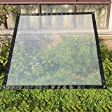 Sureh 2 x 3 m wasserdichte transparente Plane mit Ösen, Vordächer und Planen, strapazierfähige, transparente, wetterfeste Plane, faltbar, Pflanzendach, Regenschutz, Seil enthalten